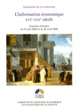 Comité pour l'histoire - L'information économique - 15e-16e siècle.