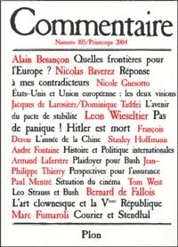 Alain Besançon et Nicolas Baverez - Commentaire N°105 / Printemps 20 : .