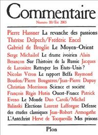 Pierre Hassner - Commentaire N° 110, Eté 2005 : .