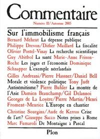 Marc Fumaroli et Christine Sourgins - Commentaire N° 111, Automne 2005 : Sur l'immobilisme français.