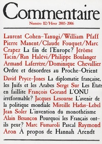 Laurent Cohen-Tanugi et William Pfaff - Commentaire N° 112 Hiver 2005-20 : .
