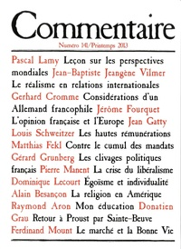 Jean-Claude Casanova - Commentaire N° 141, Printemps 20 : .