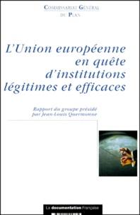 Deedr.fr L'Union européenne en quête d'institutions légitimes et efficaces - Rapport du groupe de réflexion sur la réforme des institutions européennes Image