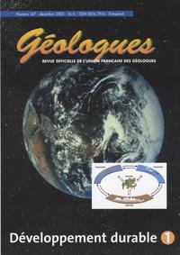Gérard Sustrac - Géologues N° 147, Décembre 200 : Développement durable 1.