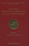 Commission des archives - Archives constitutionnelles de la Ve République - Volume 3, 8 janvier 1959 - 27 avril 1959.