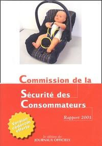 Histoiresdenlire.be Commission de la sécurité des consommateurs - Rapport 2001 Image
