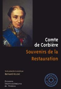 Comte de Corbière - Souvenirs de la Restauration.