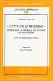 """Concetta Cavallini - """"Cette belle besogne"""" - Etude sur le Journal de Voyage de Montaigne."""