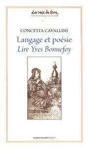 Concetta Cavallini - Langage et poésie - Lire Yves Bonnefoy.