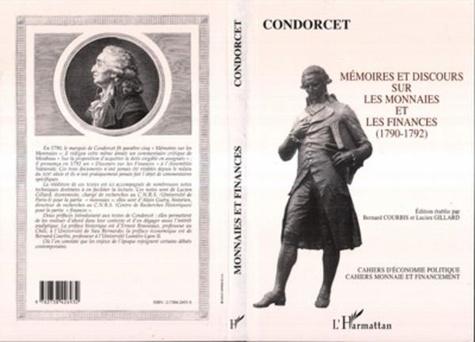 Condorcet - Mémoires et discours sur les monnaies et les finances - 1790-1792.