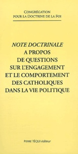 Congrégation Doctrine de Foi - .