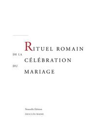Rituel romain de la célébration du mariage -  Congrégation pour culte divin pdf epub