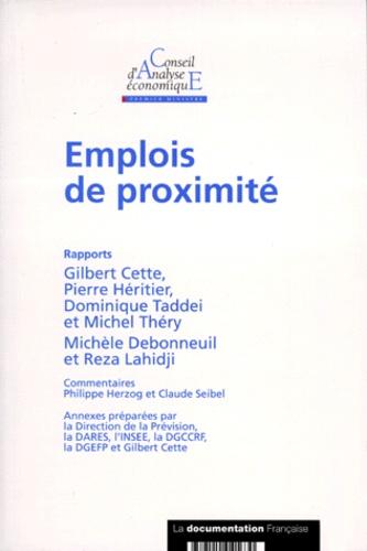 Conseil d'Analyse Economique et  Collectif - Emplois de proximité.