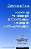Conseil d'Etat - Inventaire méthodique et codification du droit de la communication.