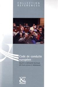 Histoiresdenlire.be Code de conduite européen - Relatif à l'intégrité politique des élus locaux et régionaux Image