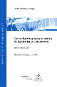 Rhonealpesinfo.fr Convention européenne en matière d'adoption des enfants (révisée) et rapport explicatif - STCE n° 202, Strasbourg (France), 27 novembre 2008 Image