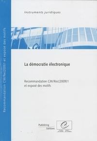 Conseil de l'Europe - Démocratie électronique - Recommandation CM/Rec(2009)1 et exposé des motifs.