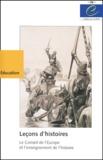 Conseil de l'Europe - Leçons d'histoires - Le Conseil de l'Europe et l'enseignement de l'histoire.