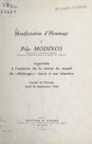 Conseil de l'Europe - Manifestation d'hommage à Polys Modinos - Organisée à l'occasion de la remise du recueil de « Mélanges » réunis à son intention. Conseil de l'Europe, jeudi 26 septembre 1968.