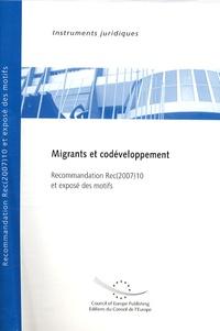 Migrants et codéveloppement - Recommandation Rec(2007)10 et exposé des motifs.pdf