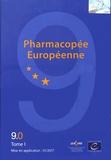 Conseil de l'Europe - Pharmacopée européenne - 3 volumes, suppléments 9.0, 9.1 et 9.2.