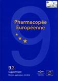 Conseil de l'Europe - Pharmacopée européenne - Suppléments 9.3 9.4 9.5, 3 volumes.