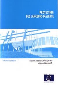 Conseil de l'Europe - Protection des lanceurs d'alerte - Recommandation CM/Rec(2014)7.
