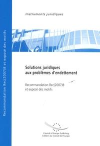 Solutions juridiques aux problèmes dendettement - Recommandation Rec(2007)8 et exposé des motifs.pdf