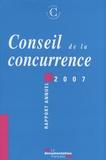 Conseil de la Concurrence - Conseil de la concurrence - Rapport annuel 2007. 1 Cédérom