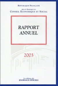 Conseil Economique et Social - Rapport annuel 2003.