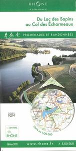 Conseil Général du Rhône - Du lac des Sapins au col des Echarmeaux - 1/30 000.