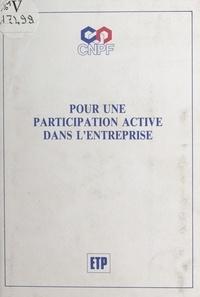 Conseil national du patronat f - Pour une participation active dans l'entreprise.