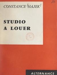 Constance Hajek et Frédéric Pottecher - Studio à louer.