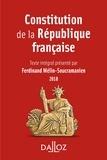 Constitution de la République française. 2018.