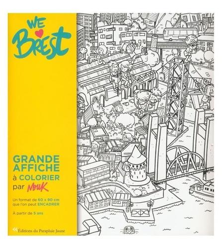 Mouk - We Love Brest - Affiche de Brest à colorier.