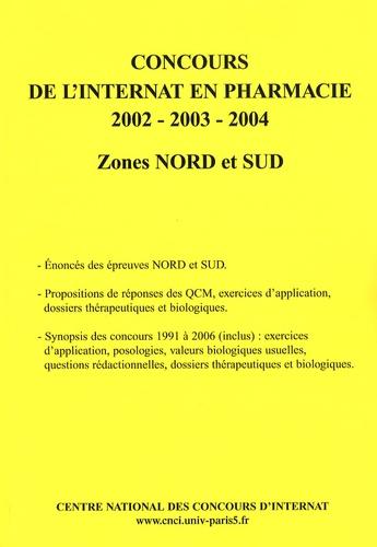 Coopérative Université Club - Concours de l'internat en pharmacie 2002-2003-2004 - Zones Nord et Sud.