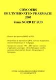 Coopérative Université Club - Concours de l'internat en pharmacie 2005 - Zones Nord et Sud.