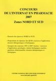 Coopérative Université Club - Concours de l'internat en pharmacie 2007 - Zones nord et sud.