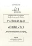 COPIRELEM - Concours de recrutement des Professeurs des Ecoles - Mathématiques annales 2014.