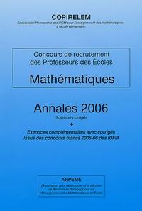Birrascarampola.it Mathématiques Concours de recrutement des Professeurs des Ecoles - Annales 2006 Sujets et corrigés, Exercices complémentaires avec corrigés issus des concours blancs 2005-06 des IUFM Image