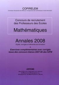 COPIRELEM - Mathématiques CRPE - Annales 2008.