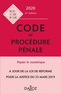 Coralie Ambroise-Casterot et Jean-François Renucci - Code de procédure pénale 2020, annoté - 61e éd..