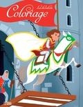 Coralie Vallageas - Coloriage les chevaliers - La fuite du chevalier.