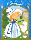Coralie Vallageas - Coloriage Les princesses (bleu).