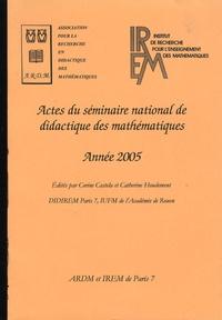Corine Castela et Catherine Houdement - Actes du séminaire national de didactique des mathématiques - Année 2005.