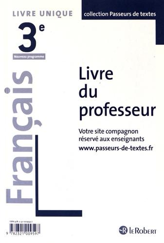 Francais 3e Livre Du Professeur