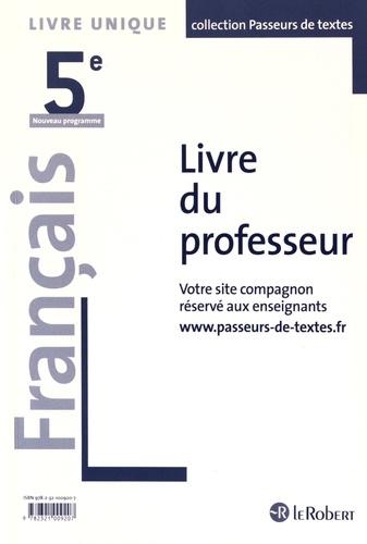 Francais 5e Livre Du Professeur