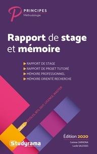 Corinne Carmona - Rapport de stage et mémoire - Ecoles, BTS, DUT, Licence, Master.