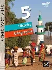 Corinne Chastrusse et Jean-Claude Martinez - Histoire Géographie 5e - Fiches d'activités.