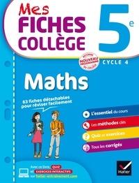 Fichier pdf téléchargement gratuit ebooks Mes fiches collège Maths 5e 9782401029545 DJVU PDF par Corinne de Reggi, Marie Brigitte Goiffon-Jacquemont, Sonia Quinton